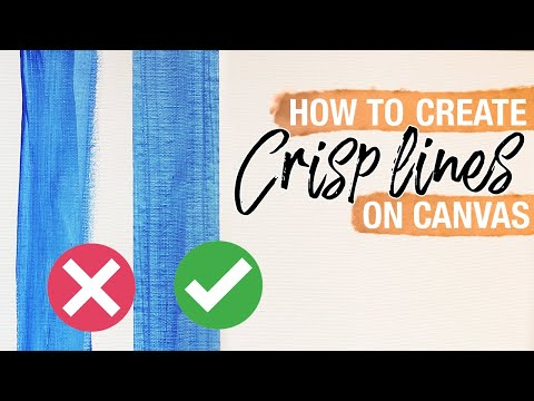 How To Create Straight Lines on Canvas | Art Tutorial thumbnail