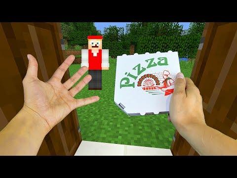 REALISTIC MINECRAFT - STEVE ORDERS PIZZA