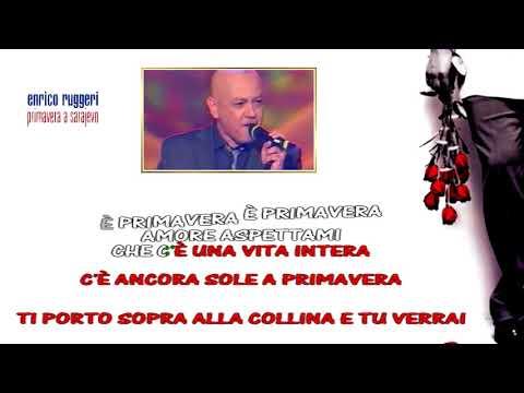 Enrico Ruggeri   Primavera a Sarajevo karaoke strumentale ufficiale