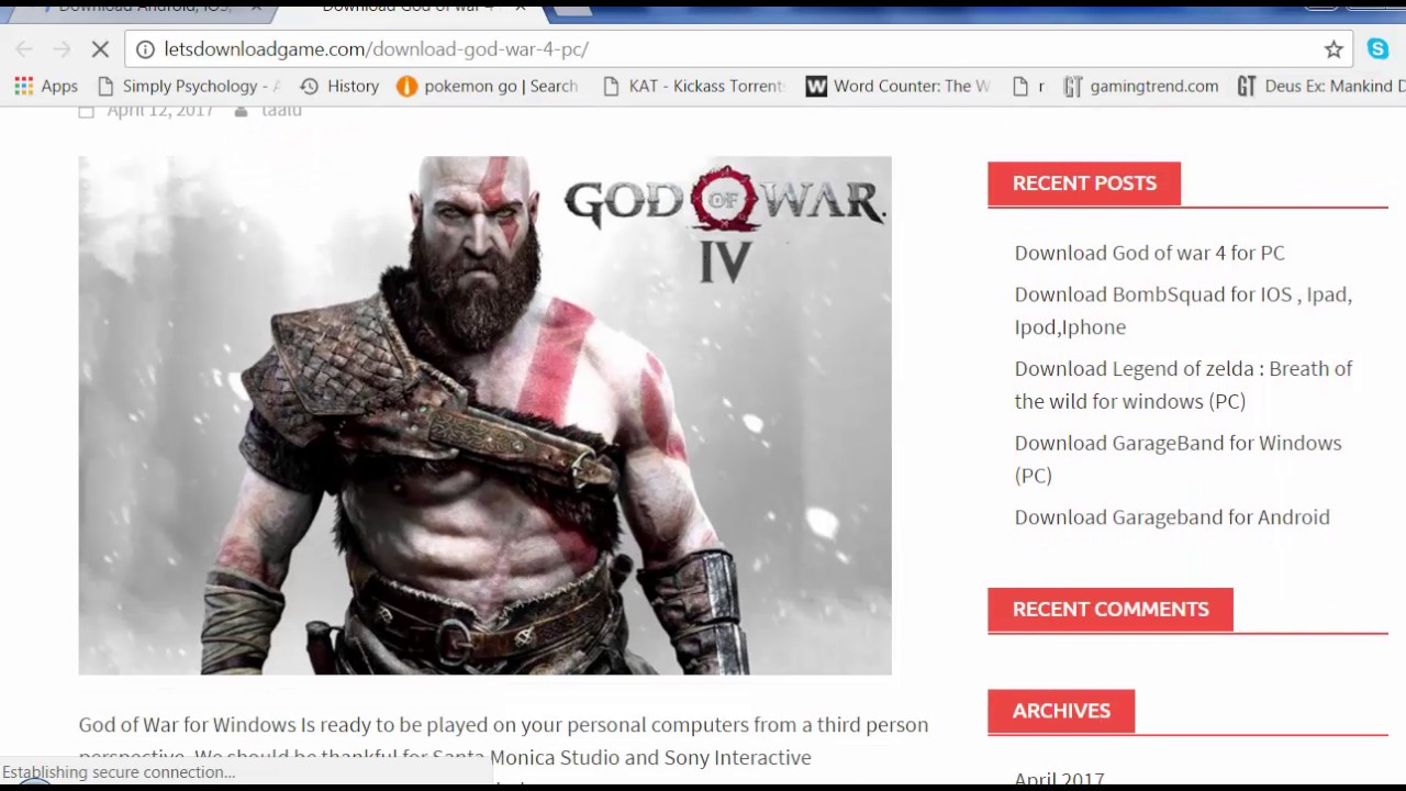 How to download god of war 4 [pc/xbox/ps4] from torrent youtube.