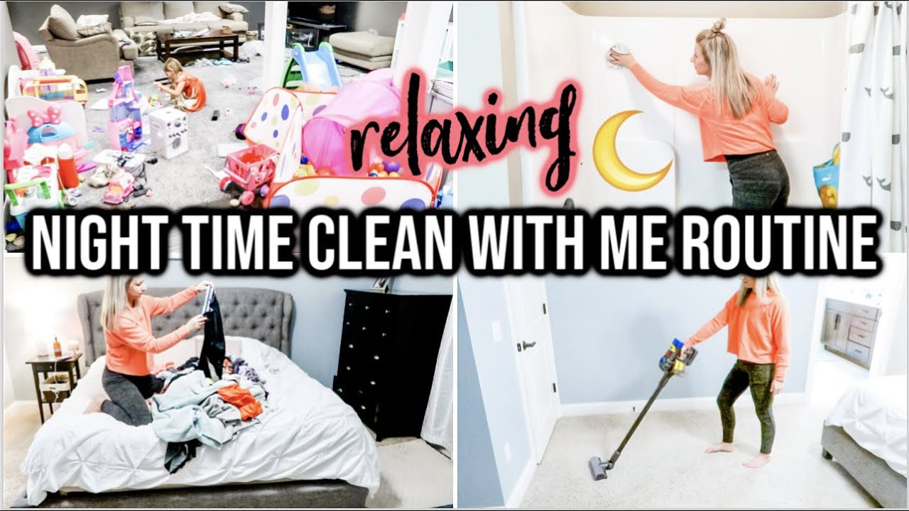 NEW! RELAXING WHOLE HOUSE CLEAN WITH ME 2020   EXTREME CLEANING MOTIVATION   NIGHT CLEANING ROUTINE