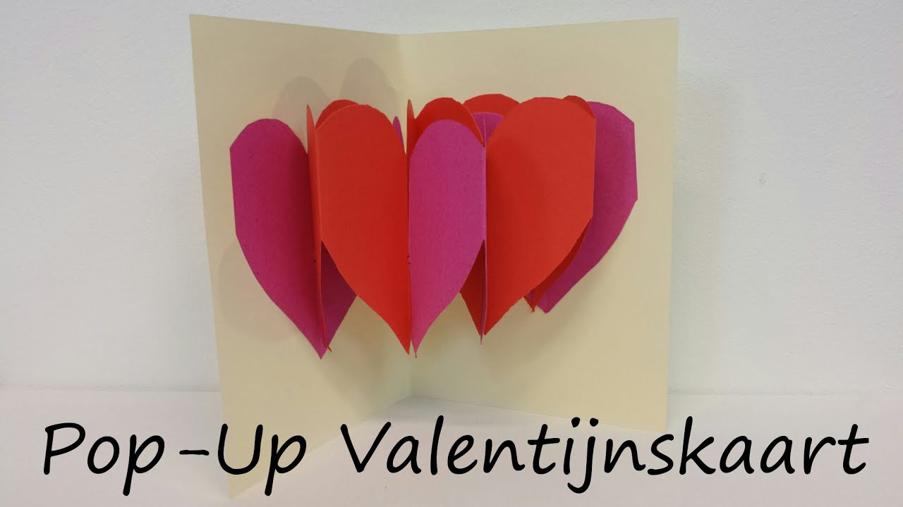 Zeer Pop-Up Valentijnskaart - YouTube #OT21