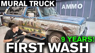 Disgusting Mural Truck Detailing MakeOver: First Washing in 9 Years!