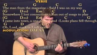 Lodi (CCR) Strum Guitar Cover Lesson with Chords/Lyrics Capo 3rd