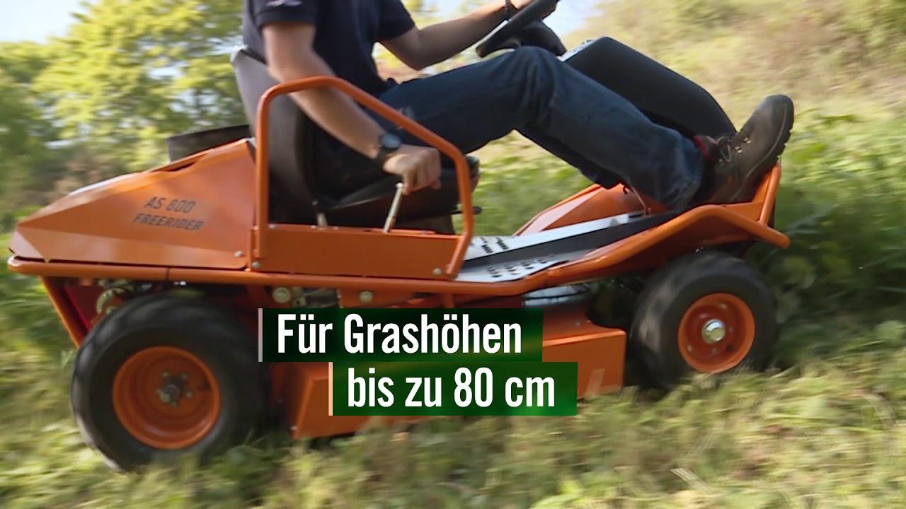 as 800 free rider aufsitzmäher 2018 - youtube