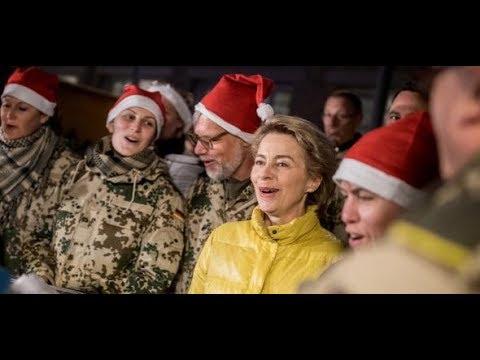 Ursula von der Leyen: Weihnachtsfeier mit Bundeswehrsoldaten in Afghanistan
