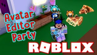 MEEP CITY AVATAR EDITOR PARTY - HUNTRYS, SLOTH - PIZZA! ROBLOX GIRL KID GAMING CHANNEL SISTERS