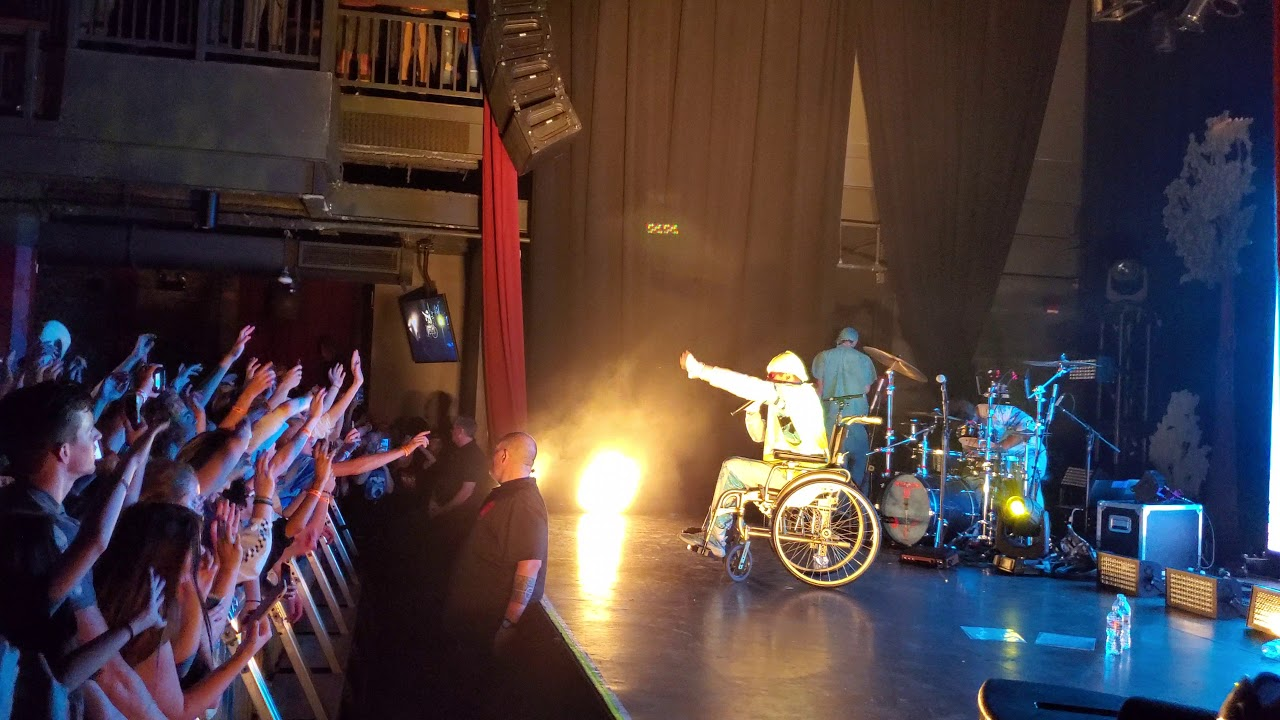 Disabled Oliver Tree in Wheelchair - Miracle Man [Live @ The Depot Salt Lake City]