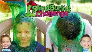 SLIME BUCKET CHALLENGE !!! Une Douche de Slime pour Swan & Néo :)