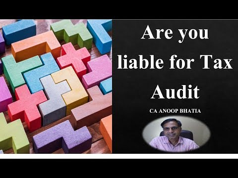 Are you liable to Tax Audit