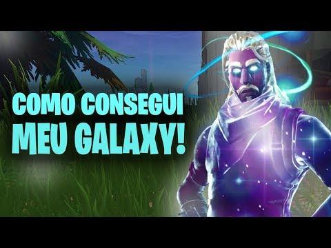 COMO CONSEGUI GRÁTIS A SKIN DO GALAXY! - Fortnite