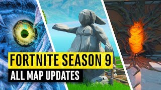 OUTDATED Fortnite | Season 9 All Map Changes and Secret Updates! Stranger Things to Come