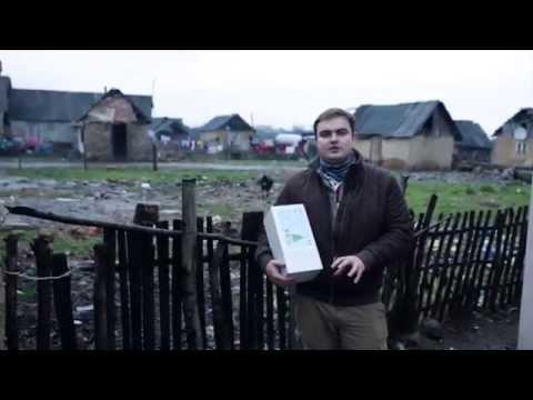 HART Christmas Shoebox distribution in a Gypsy Village - Ukraine