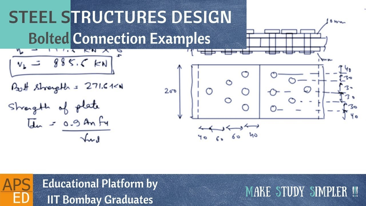 Bolted Connection Design Solved Examples Part 1 | Design of Steel Structures