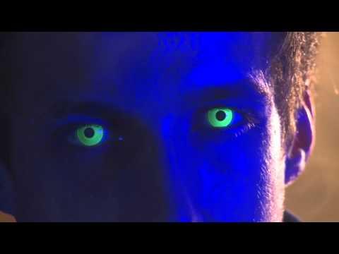 Yellow UV Contact Lenses - YouTube