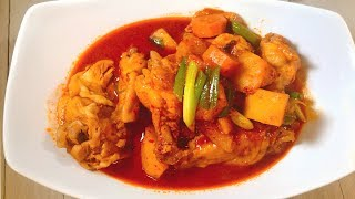 spicy braised chicken, 닭볶음탕/ how to cook korean food[COOKHAJA]