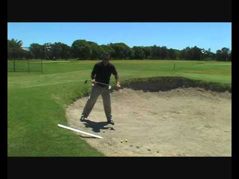 Downhill Bunker Shots Made Easy