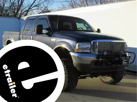 install  hitch electric winch mount plate 2003 ford f250 c31010