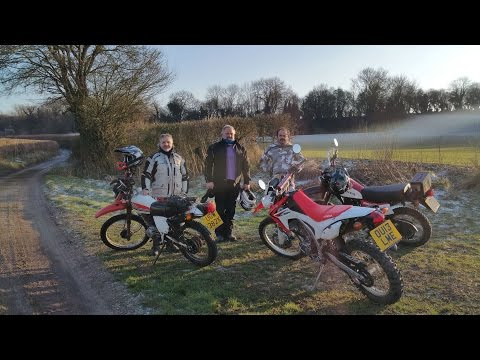 Greenlaning in Highclere UK on 1983 HONDA XL250 action cam