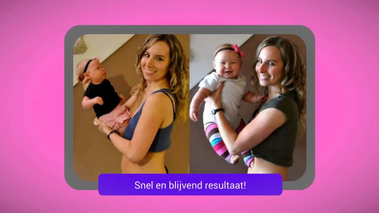snel afvallen na bevalling