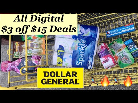 Dollar General $3 off $15 Glitch Coupon Haul! | Super Cheap All Digital Deals