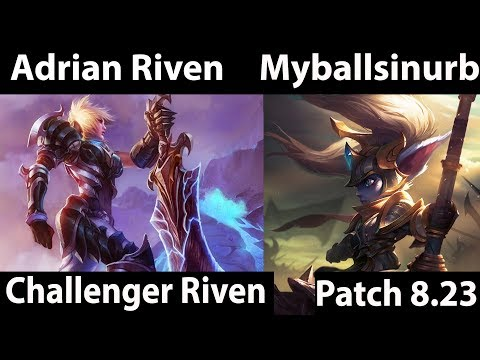[ Adrian Riven  ] Riven vs Poppy [ Myballsinurballs ] Top  - testing preseason changes patch