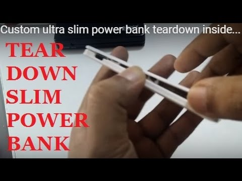 HOW TO CHECK ULTRA SLIM POWER BANK TEARDOWN INSIDE BATTERY