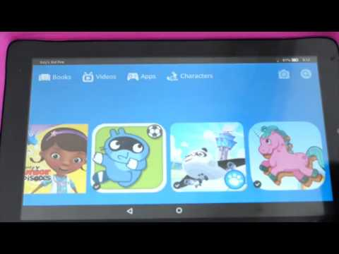 Kids Kindle Fire - Setup and Usage Tips