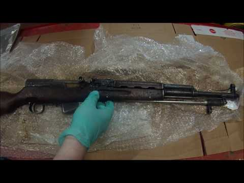 Chinese type 56 sks unboxing, disassembly, cleaning and test firing from classic firearms part 1