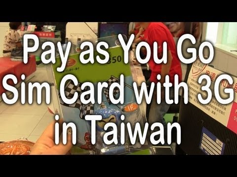 Taiwan Pay as You Go Sim with 3G
