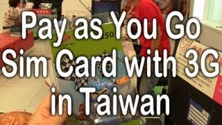 Taiwan Pay as You Go Sim with 3G