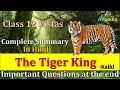 The Tiger King | Vistas | Class 12th | In Hindi | Complete Summary with Model Board answers