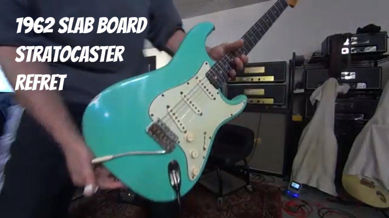 Slab board Fender Stratocaster (1962 Strat) stainless frets - guitar ...