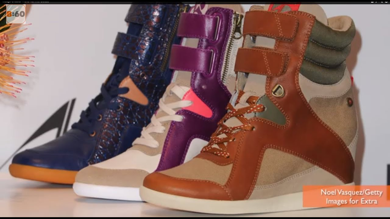 830c3a3bf0558a Wedge Sneaker Trend Hot With Celebs - YouTube