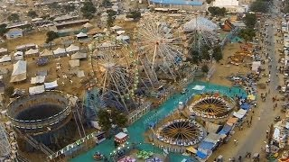 Pushkar from Sky - aerial photography in india - Aerial cinematography in india