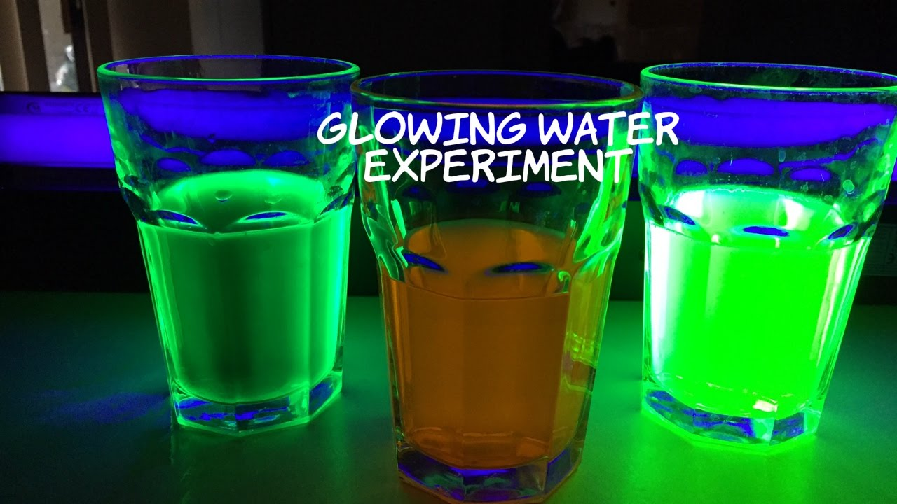 Glowing Water Experiment: How To Make Water Glow In The Dark - YouTube