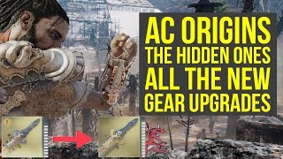 Assassins Creed Origins DLC All New Gear Upgrades AC Origins The Hidden Ones