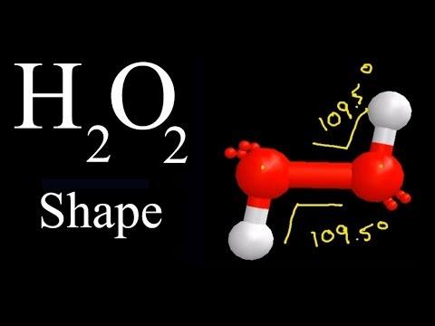 H2O2 Molecular Geometry / Shape and Bond Angles (see descp  for precise  angles)