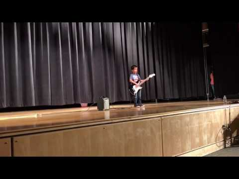 1st grader playing the Star Spangled Banner- Jimi Hendrix style