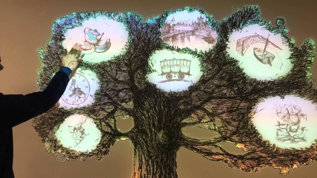 """Музей """"Алисиум"""" - интерактивная навигация при входе """"Дерево"""""""
