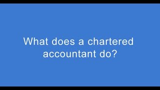 What does a chartered accountant do? Andrew Brown