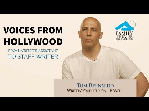 Tom Bernardo of Amazon's 'Bosch': From Writer's Assistant to Staff Writer