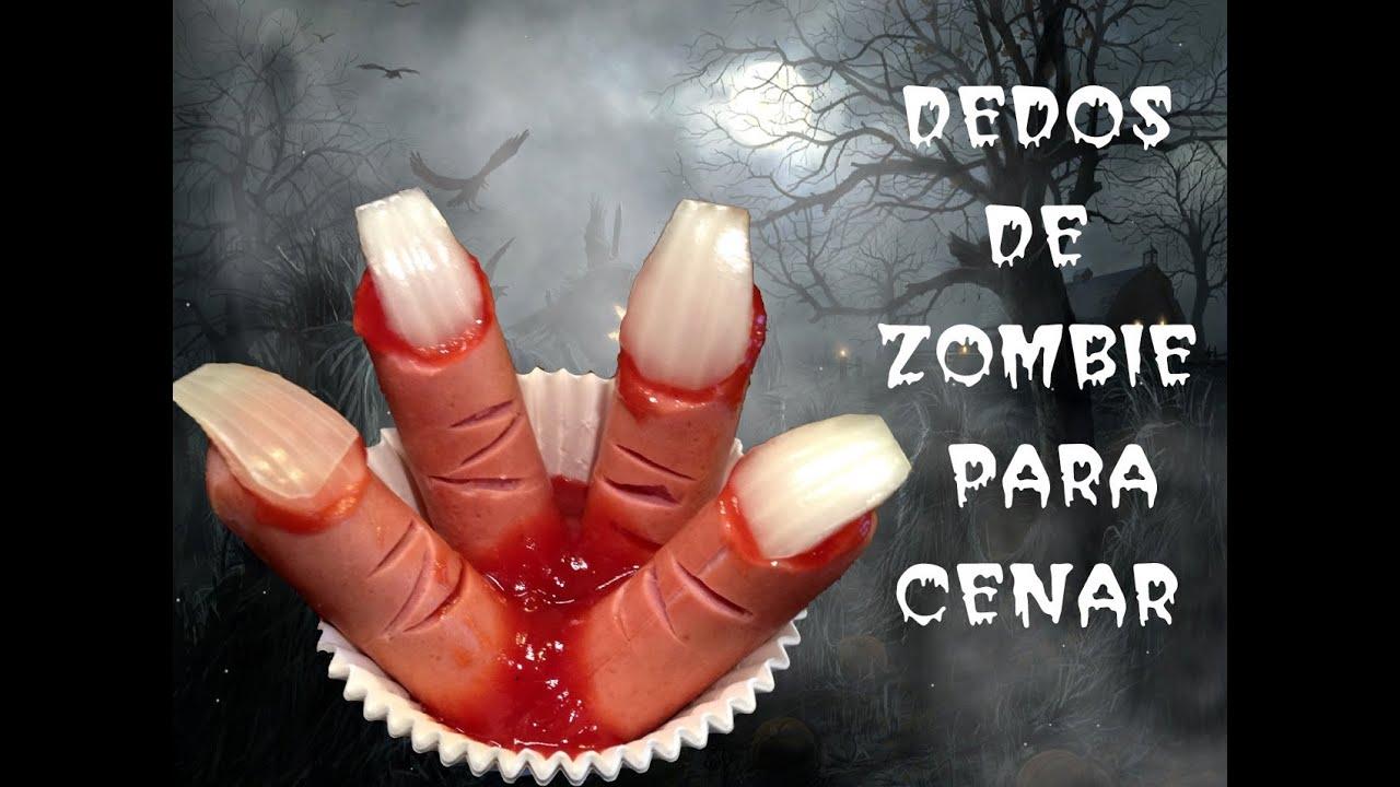 Recetas para halloween c mo hacer dedos de zombie youtube for Ideas para cenar rapido y facil
