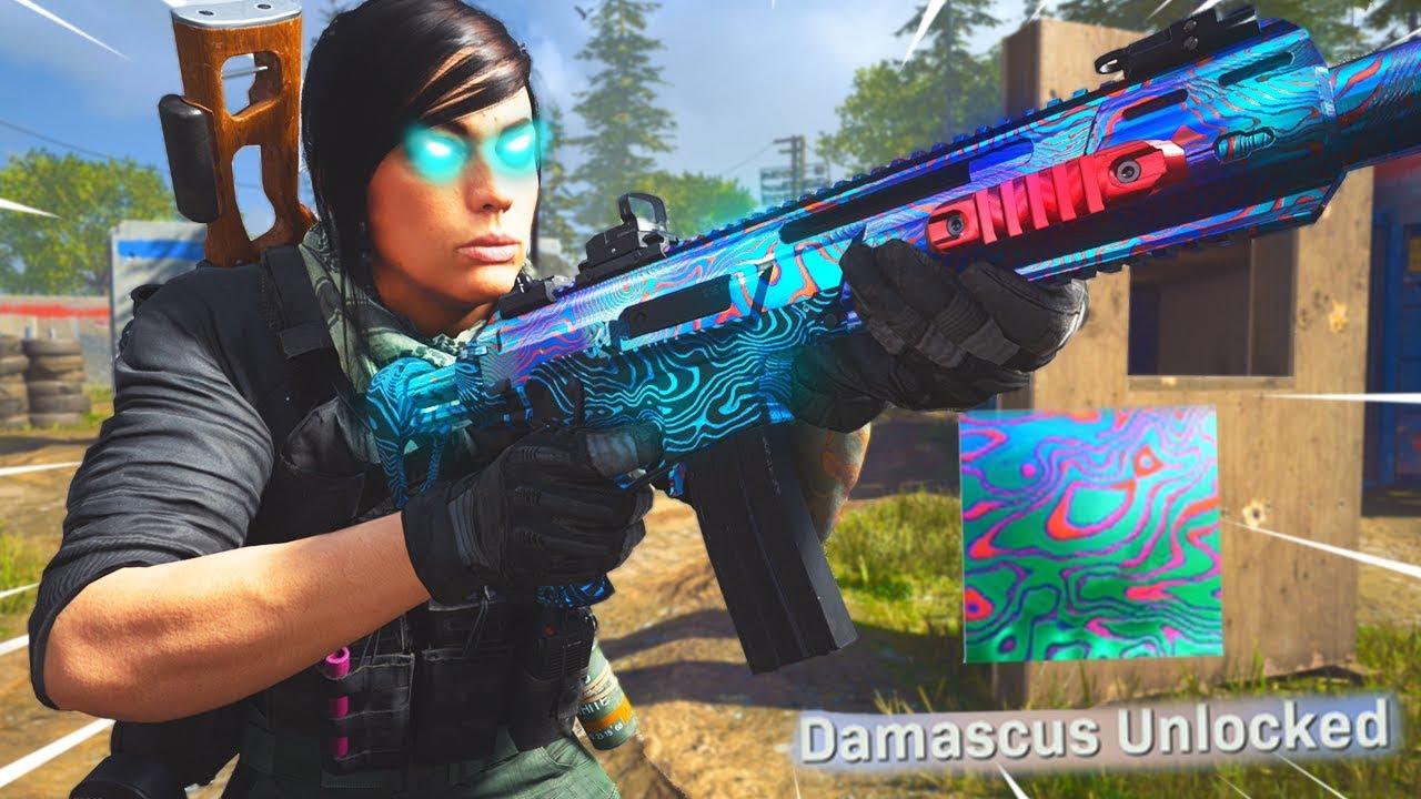 I Unlocked Damascus Camo In Modern Warfare And Well Youtube