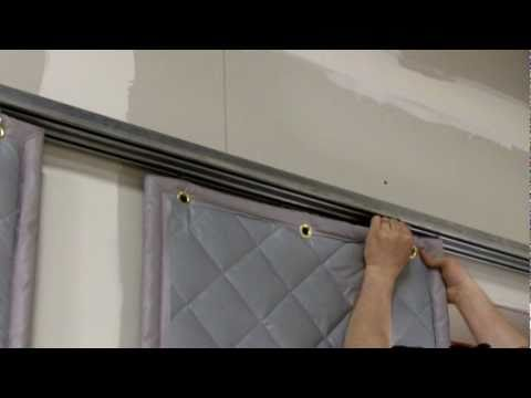 installing a barrier backed quilted sound curtain - youtube