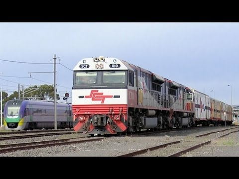 SCT Perth to Melbourne Freight Train - PoathTV Australian Railways, Railroads & Trains