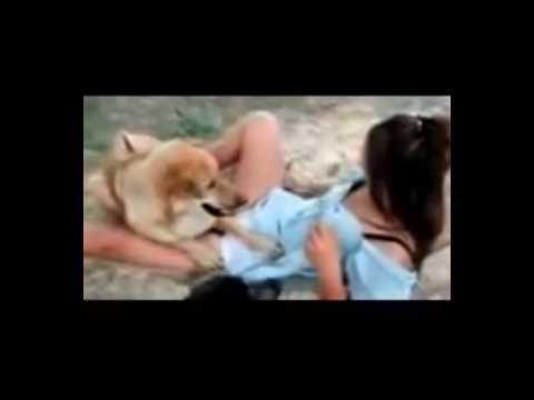 Gái xinh... chơi với chó nek