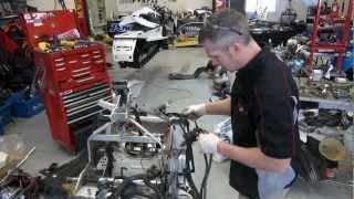 Skidoo 700 REV Ep #10 mod sled build,jackshaft, steering, electrical install - e start removal.
