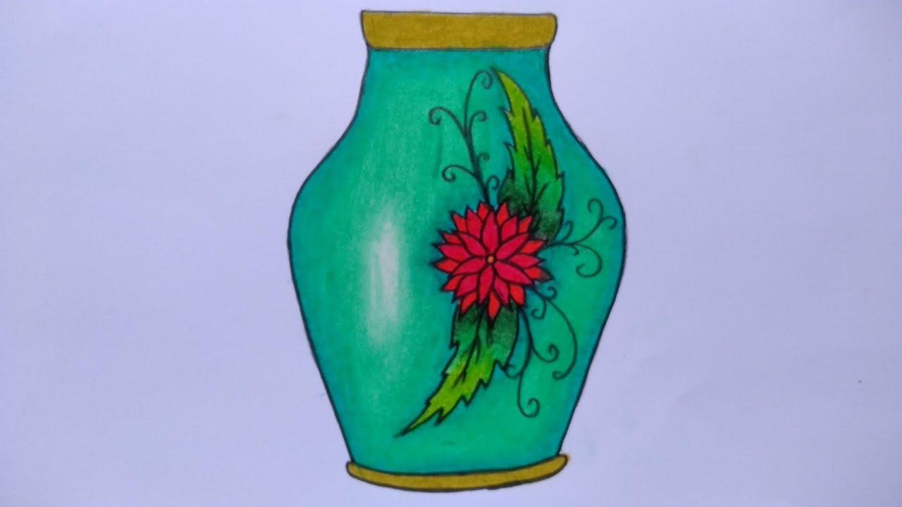 Cara Menggambar Guci Menggambar Vas Bunga Hias Belajar Menggambar Dan Mewarnai Untuk Pemula Youtube