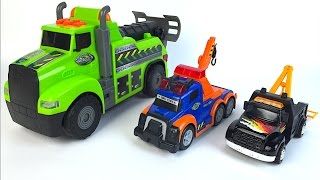 ADVENTURE WHEELS FAST LANE MUNICIPAL VEHICLES TOW TRUCKS MIGHTY MACHINE LIGHTS SOUNDS MCQUEEN